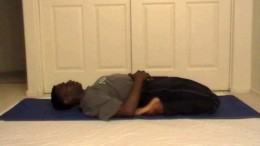 A very relaxing pose. Good for relieving tension in the ankles and for taking breath into the front of the body.