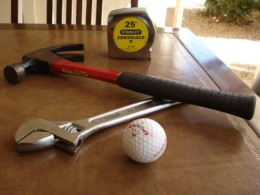 Golf tools in your toolbox.