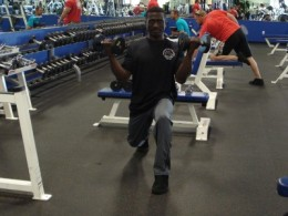 Biceps Curl from Lunge Position