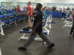 Beginning position for lunge series