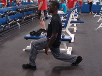 Second position for lunge series