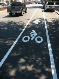Bike Path on a Street