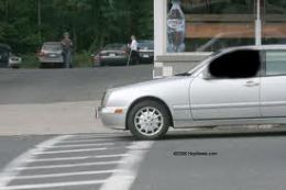 Car in Crosswalk